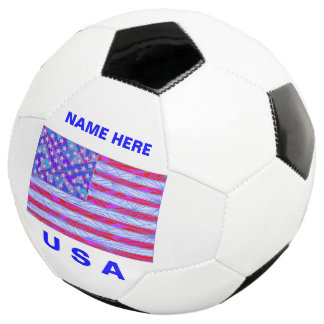 American Flag Red White And Blue USA Patriotic Soccer Ball