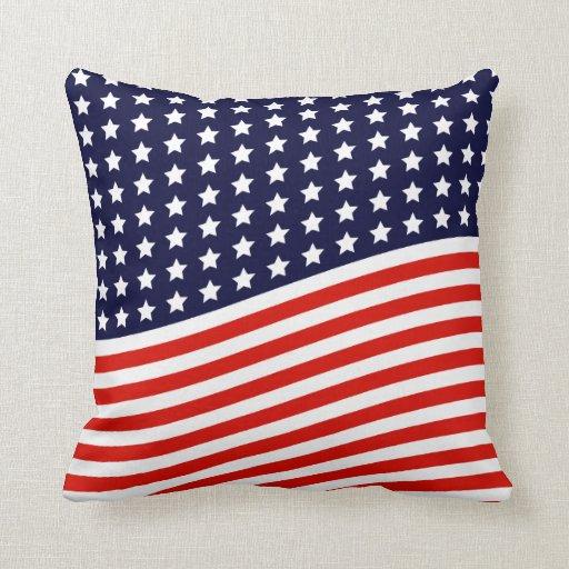Throw Pillows Usa : American Flag - Red, White and Blue USA Throw Pillow Zazzle