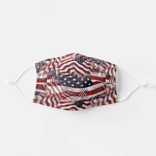 American Flag Red White Blue Stripes Stars Pattern Adult Cloth Face Mask