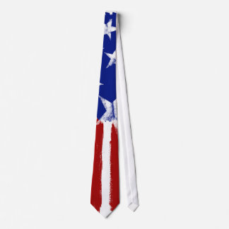 American Flag Red White Blue Tie Stars Stripes Tie