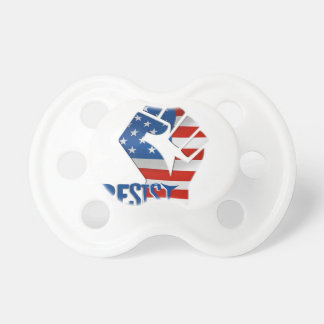 American Flag Resist Raised Fist Pacifier
