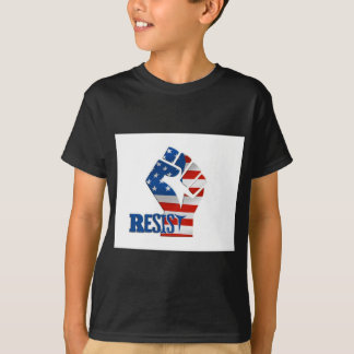 American Flag Resist Raised Fist T-Shirt