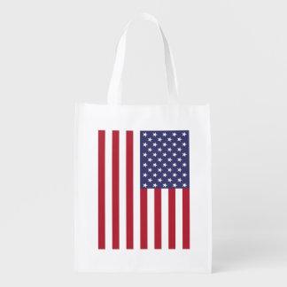 American Flag Reuseable Grocery Bag