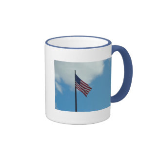 American Flag Ringer Coffee Mug