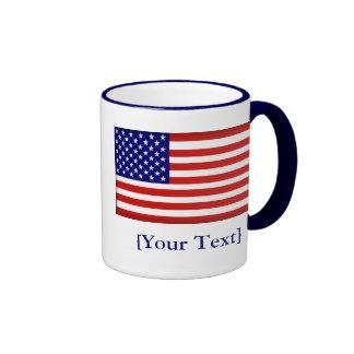 American Flag Ringer Mug
