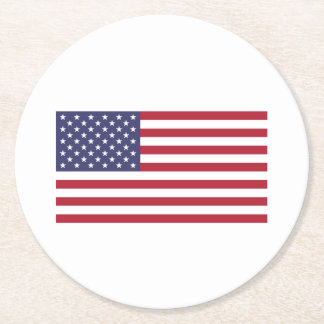 American Flag Round Paper Coaster