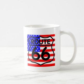 American Flag Route 66 Shield Stars & Stripes 2 Coffee Mug