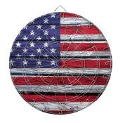 American Flag Rustic Wood Dart Board
