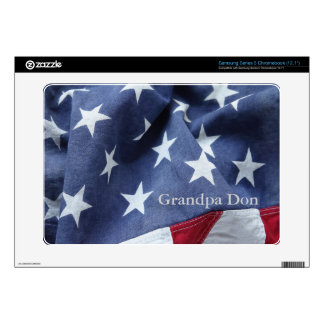 American flag Samsung Chromebook skin
