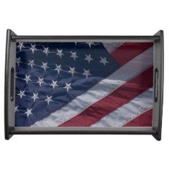 American flag. serving platters