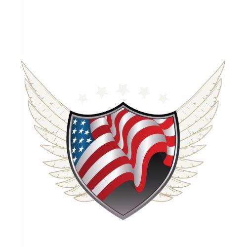 American Flag Shield Ladies' Pullover shirt