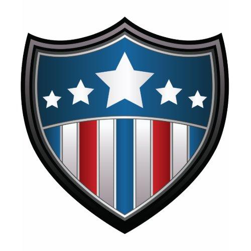 American Flag Shield Women's Shirt shirt