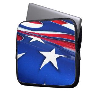 American Flag Shine Laptop Sleeve