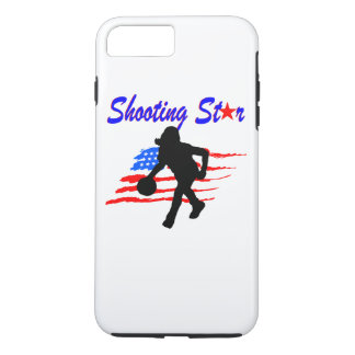 AMERICAN FLAG SHOOTING STAR BASKETBALL GIRL iPhone 8 PLUS/7 PLUS CASE