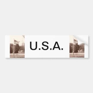 American Flag - show your spirit! Bumper Sticker