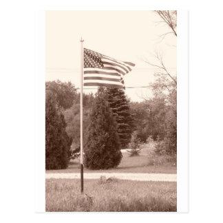 American Flag - show your spirit! Postcard