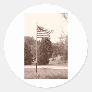 American Flag - show your spirit! Sticker
