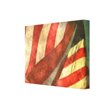 USA Themed American Flag Single Panel Wrapped Canvas Print