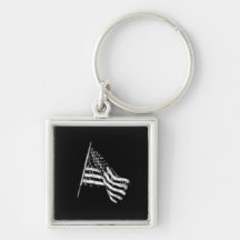 American Flag Sketch Key Chain Key Chain