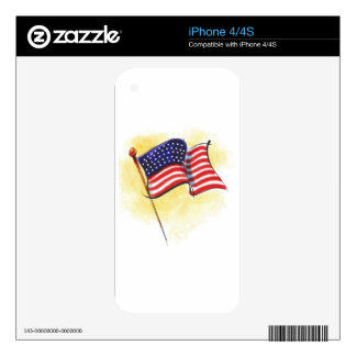 american flag decals for the iPhone 4