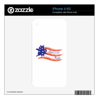 American Flag Skin For iPhone 4S