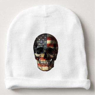 American flag skull baby beanie