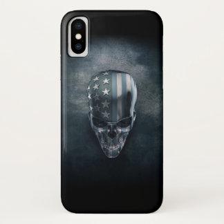 American Flag Skull iPhone X Case