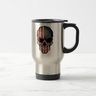 American Flag Skull Mug