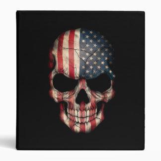 American Flag Skull on Black Binders