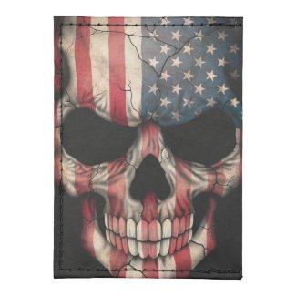 American Flag Skull on Black Tyvek® Card Case Wallet
