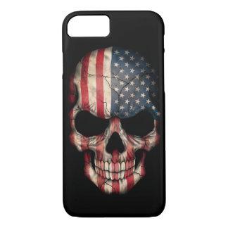 American Flag Skull on Black iPhone 8/7 Case