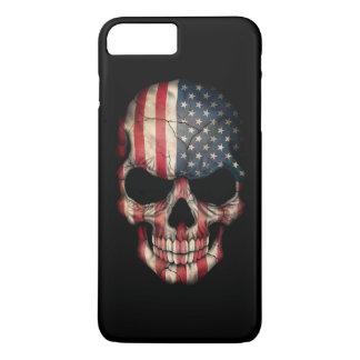 American Flag Skull on Black iPhone 8 Plus/7 Plus Case