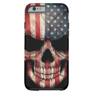 American Flag Skull on Black Tough iPhone 6 Case