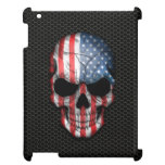 American Flag Skull on Steel Mesh Graphic Cover For The iPad