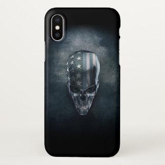 American Flag Skull Zazzle iPhone X Case