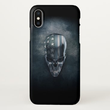 USA Themed American Flag Skull Zazzle iPhone X Case
