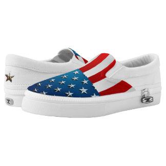 American Flag Slip-On Sneakers