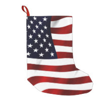 American Flag Small Christmas Stocking