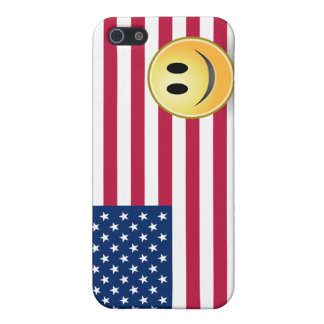 American Flag Smiley Face  Cover For iPhone SE/5/5s