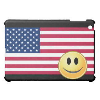 American Flag Smiley Face  iPad Mini Cases