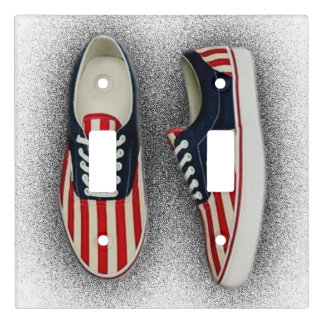 American Flag Sneakers Light Switch Cover