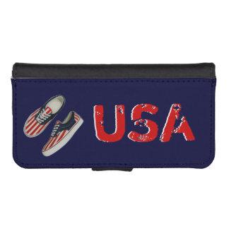 American Flag Sneakers Navy iPhone Wallet Case Phone Wallet