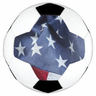 American flag soccer ball