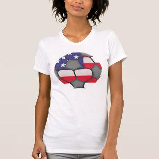 American Flag Soccer Ball Shirt