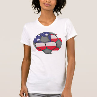 American Flag Soccer Ball Shirt