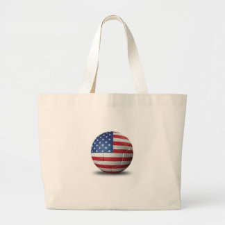 American Flag Soccer Ball Tote Bag