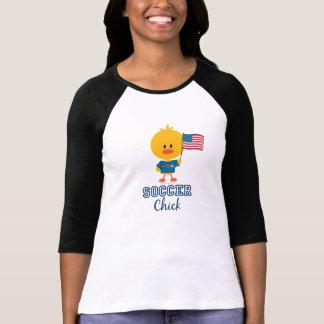 American Flag Soccer Chick Shirt