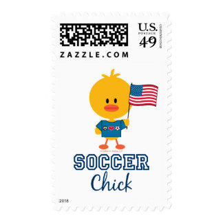 American Flag Soccer Chick Stamp