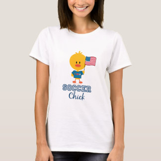 American Flag Soccer Chick T shirt