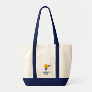 American Flag Soccer Chick Tote Bag